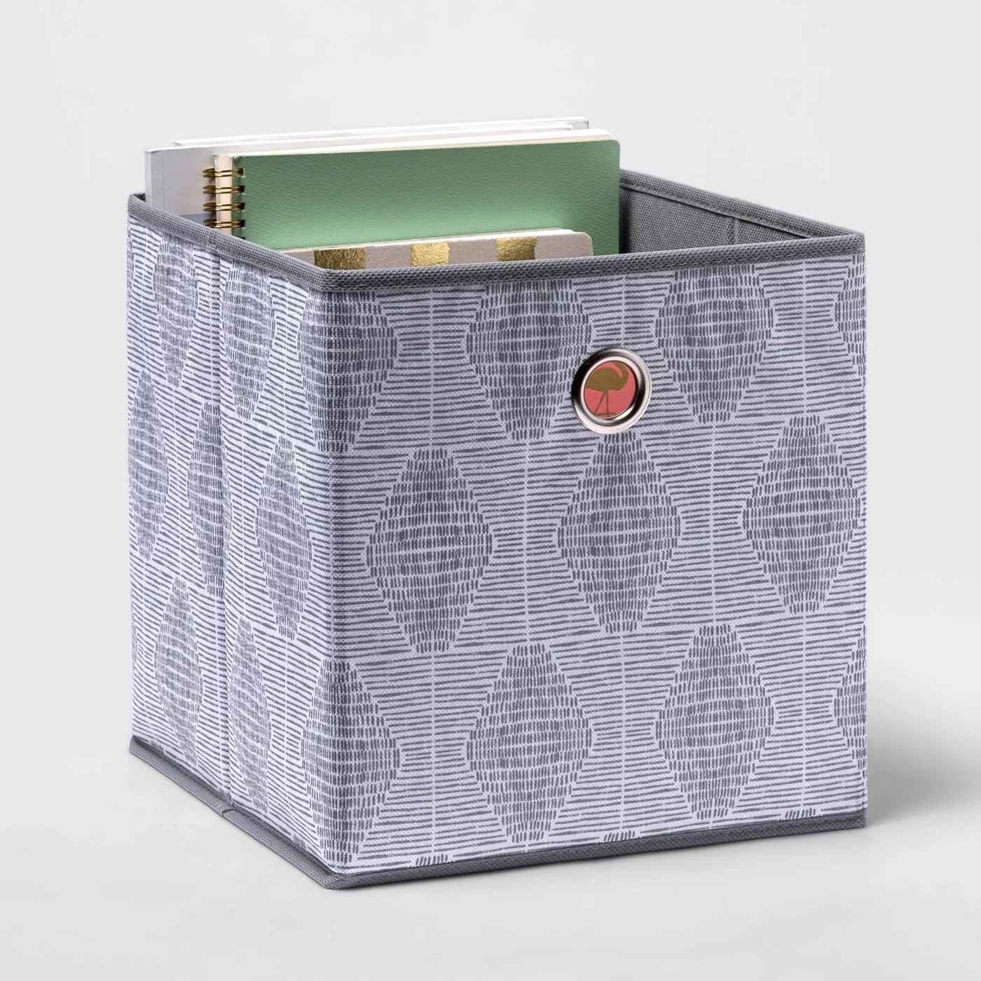 Storage cube with assorted items inside