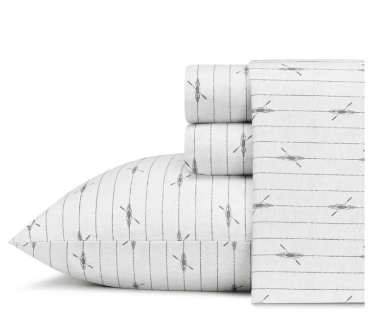 Kayak-printed sheet set