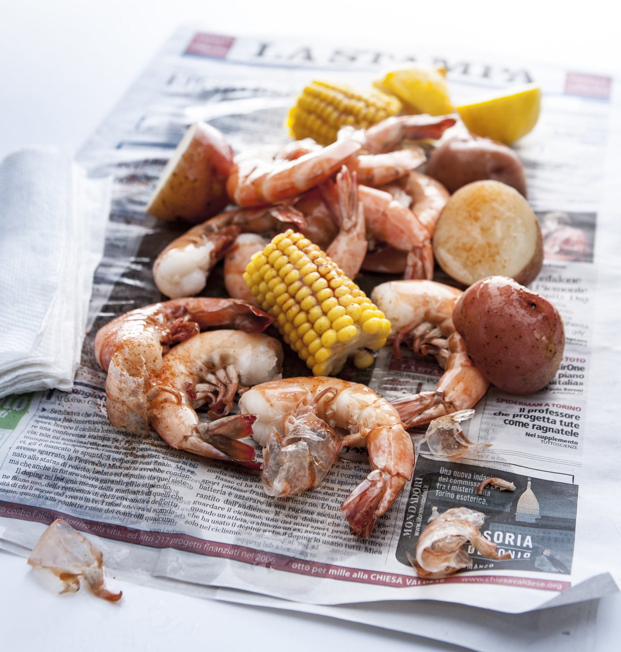 A lowcountry seafood boil.