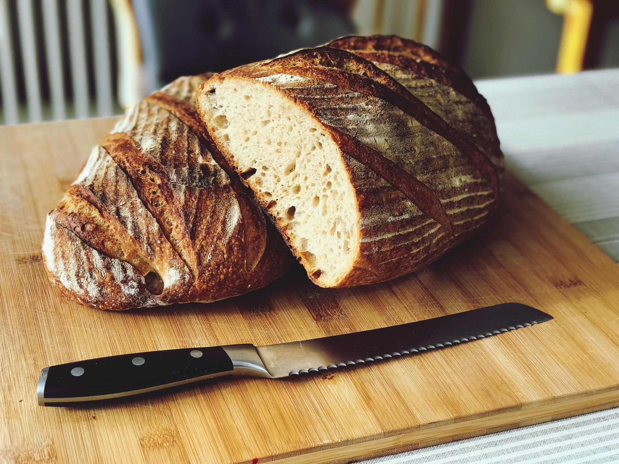 A loaf of sourdough bread.