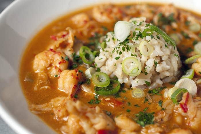 New Orleans crawfish etoufee.