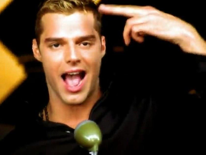 """Martin in his """"Livin' la Vida Loca"""" music video"""