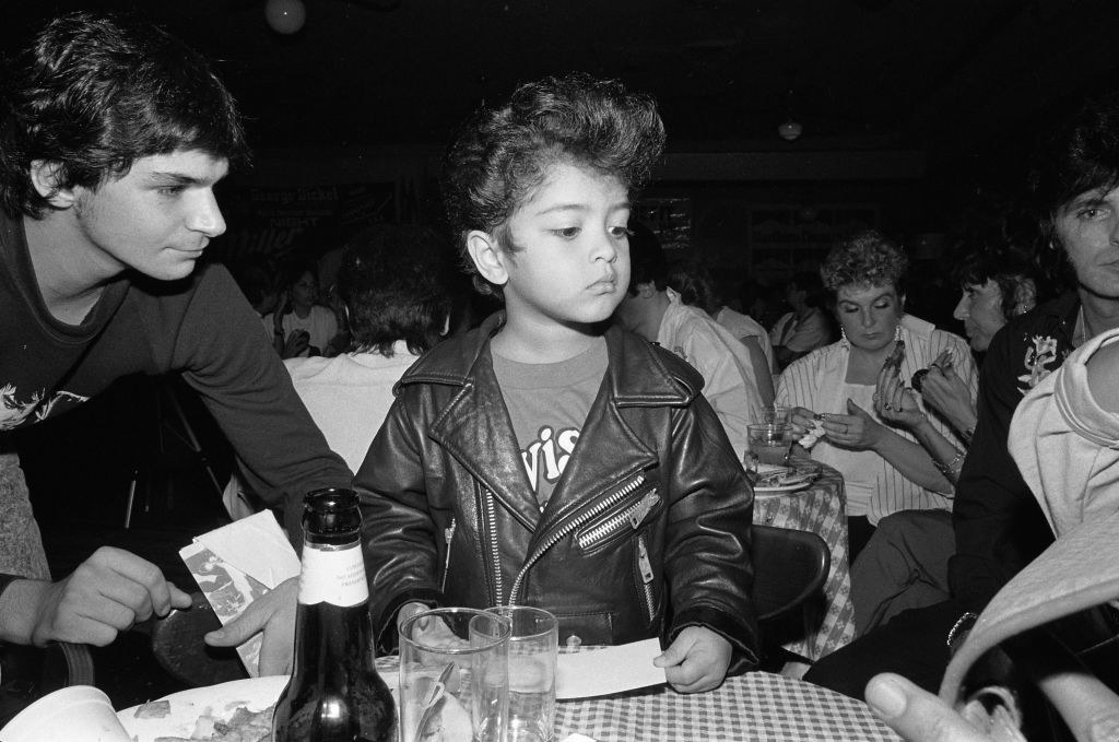 Bruno Mars doing his Elvis impersonation at the age of 4