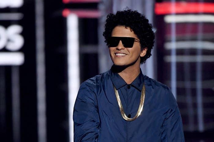 Bruno Mars at the 2018 Billboard Music Awards