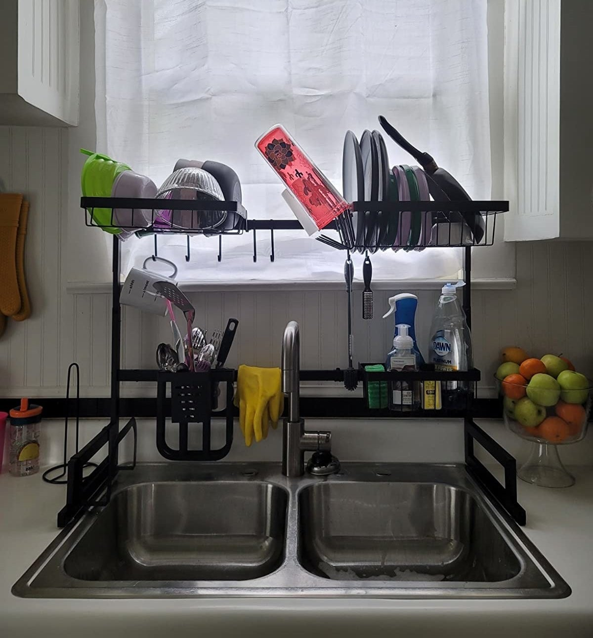 image of the over-the-sink drying rack in a reviewer's kitchen