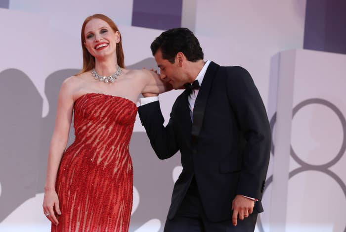 essica Chastain and Oscar Isaac