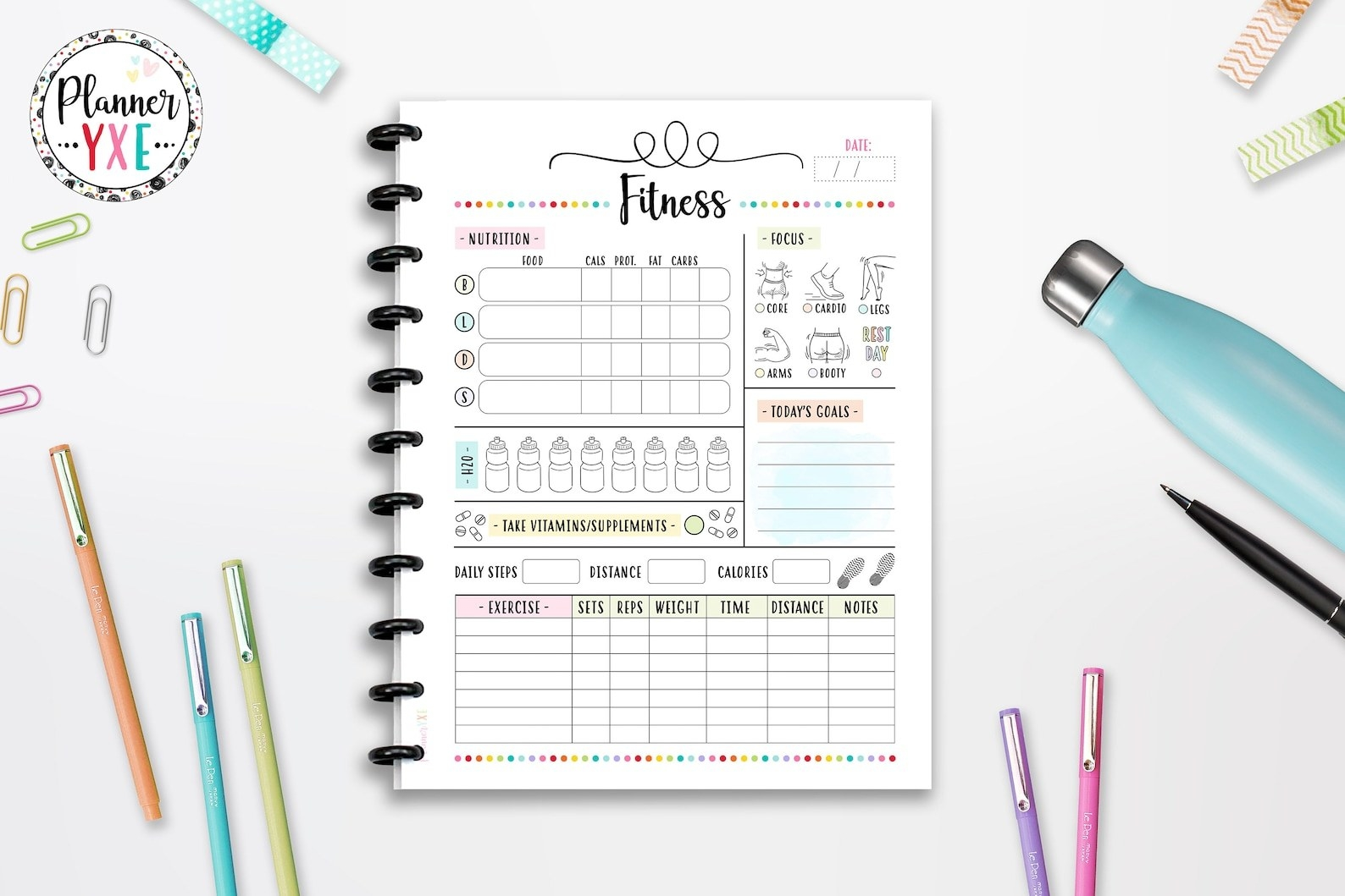fitness planner tracker