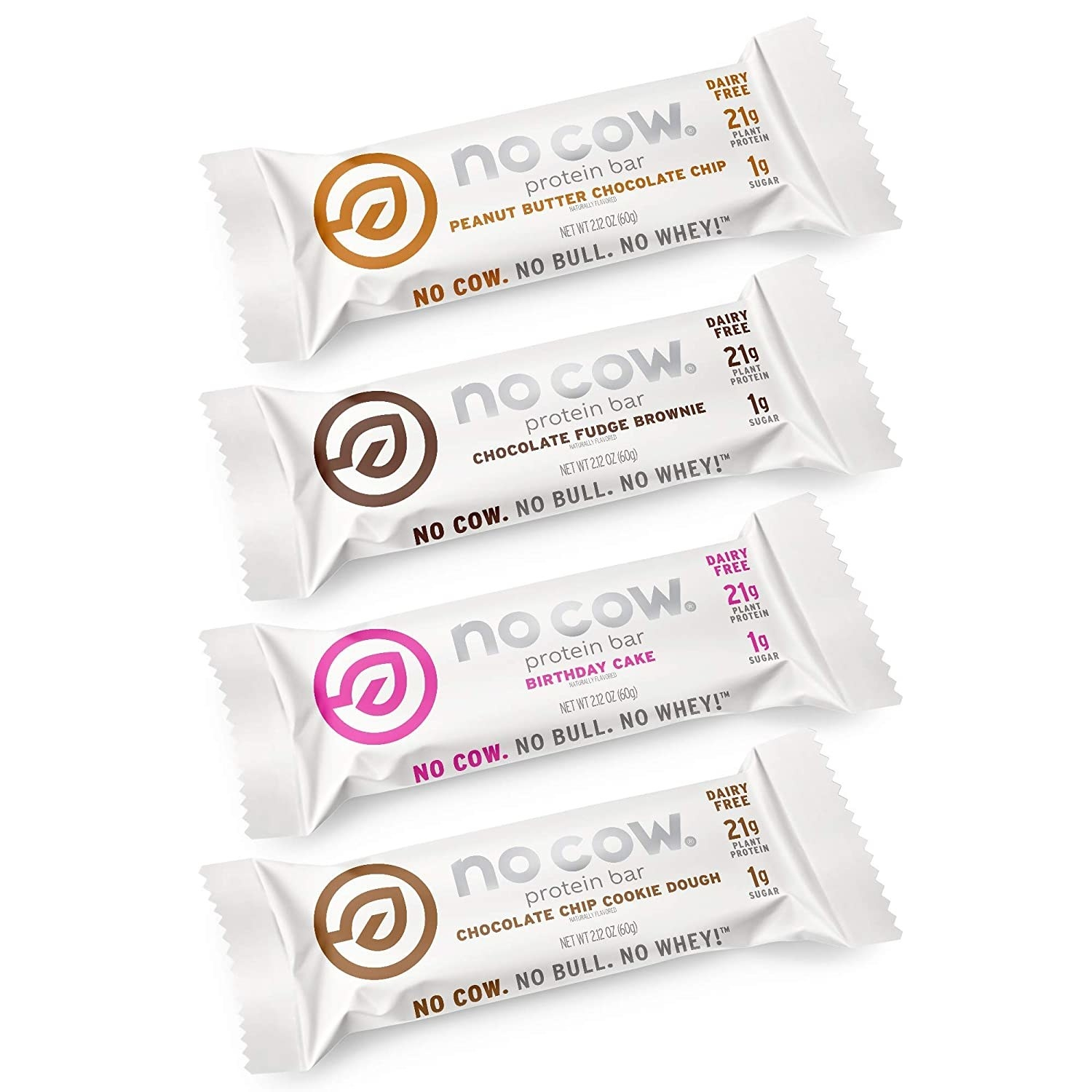 the four flavors of protein bar