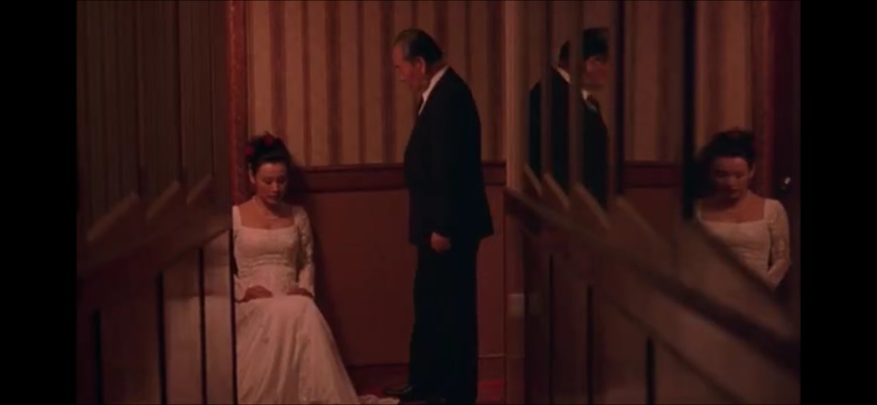 Joan Chen in wedding dress