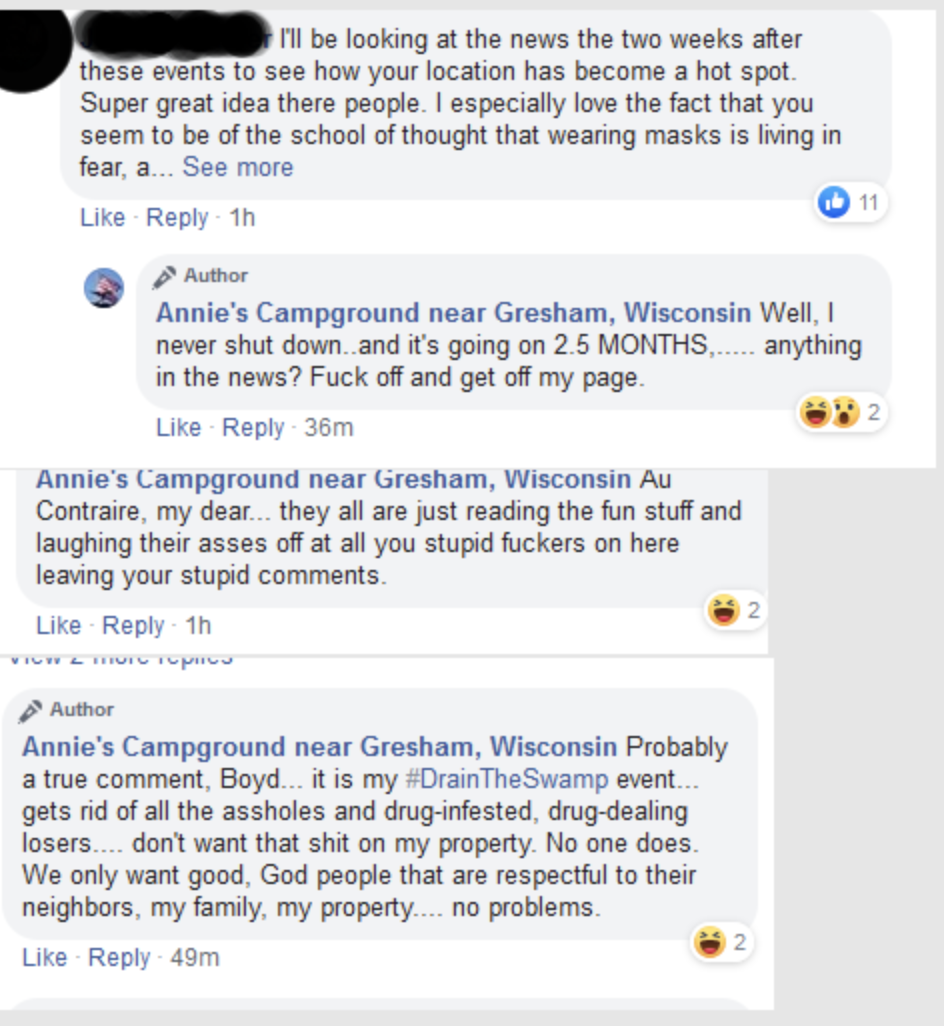angry facebook comments