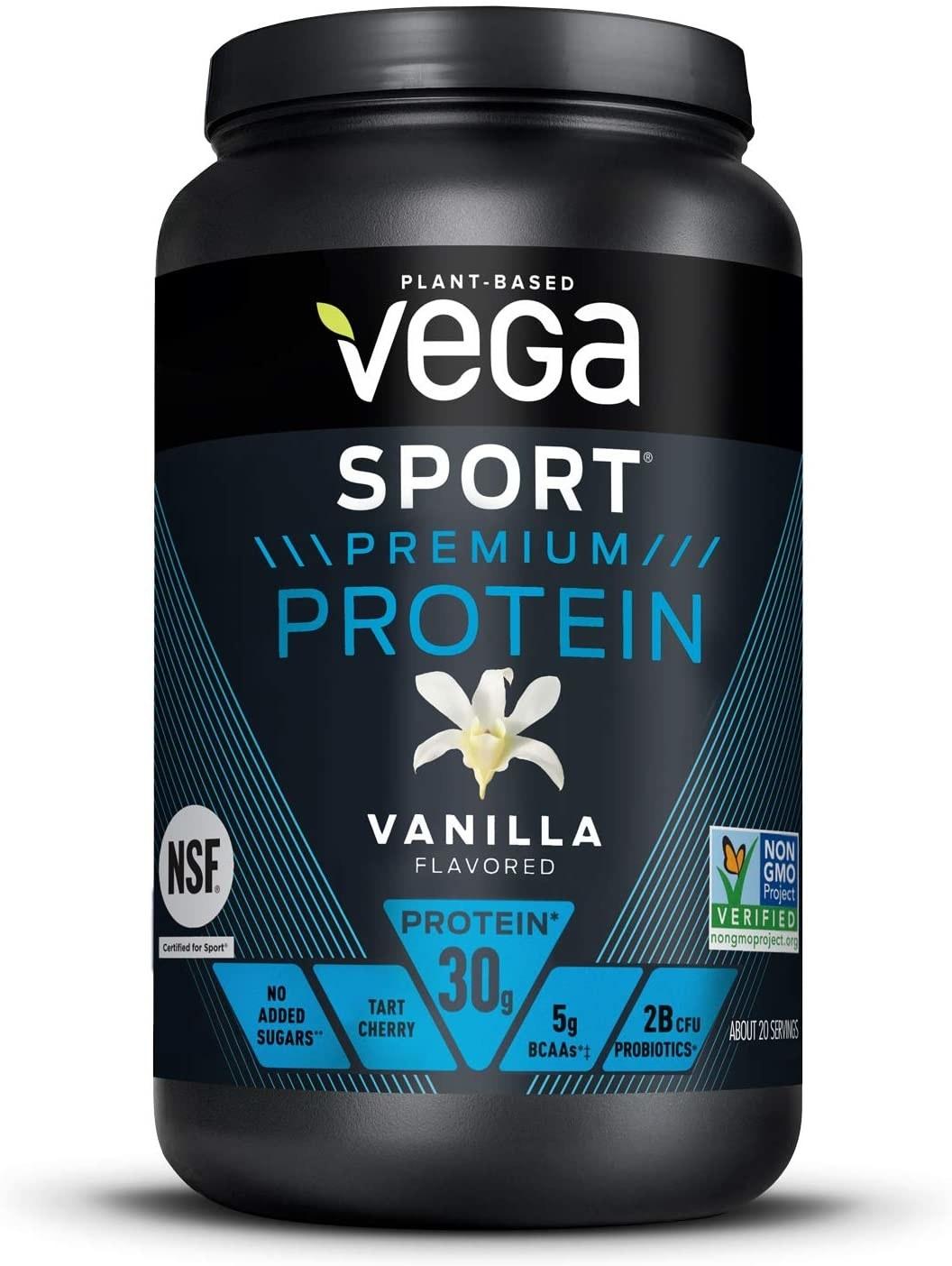 the black tub of protein powder
