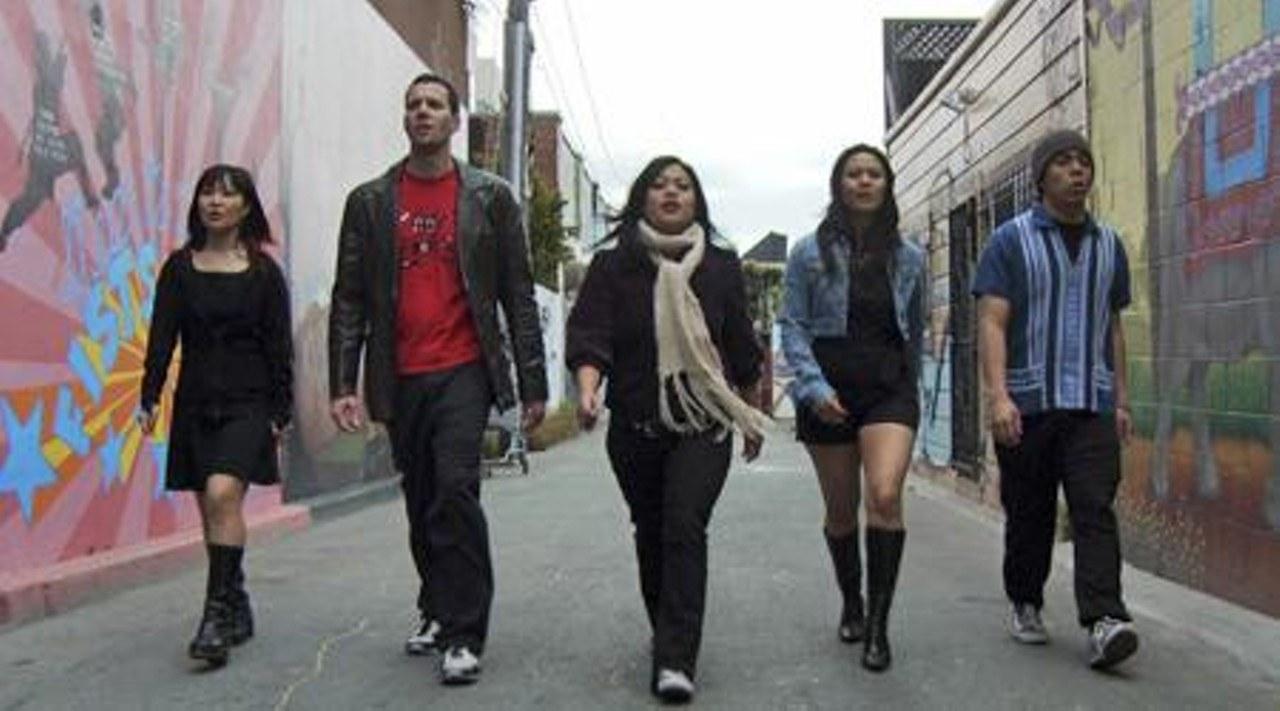 Bethesda striding around the Castro