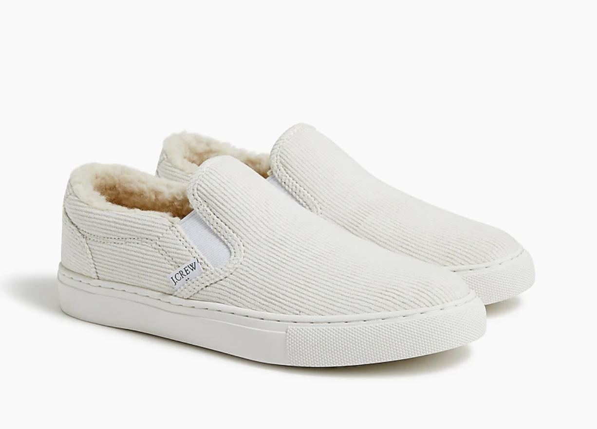 the cream colored sneakers