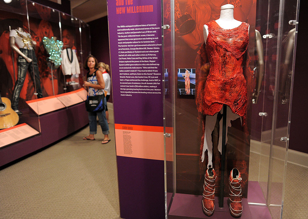 The preserved meat dress as a museum exhibit