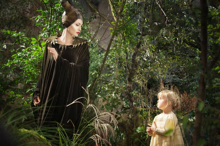 Aurora encounters Maleficent in the woods