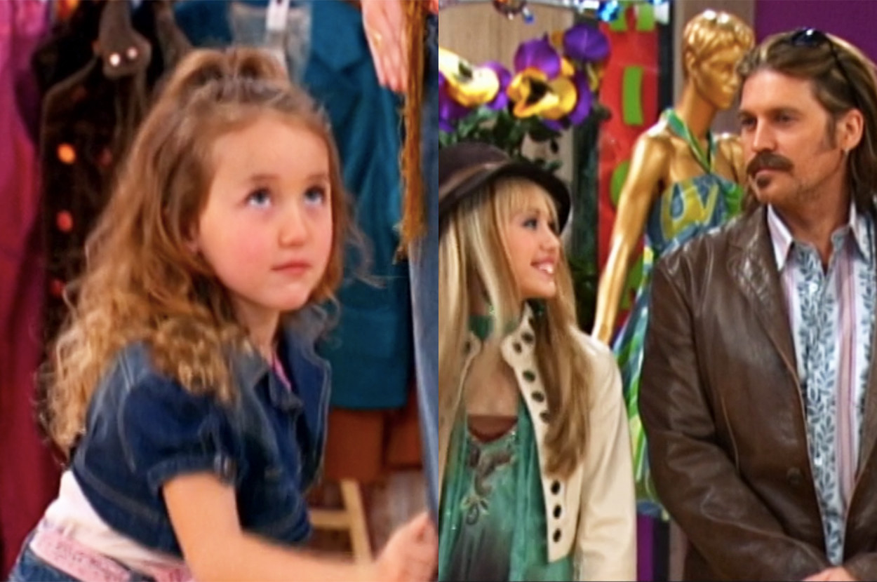 a young shopper is shocked to discover the mannequin is actually the real Hannah Montna