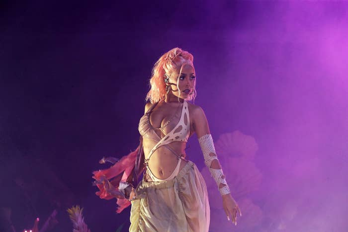 Doja Cat performing on stage