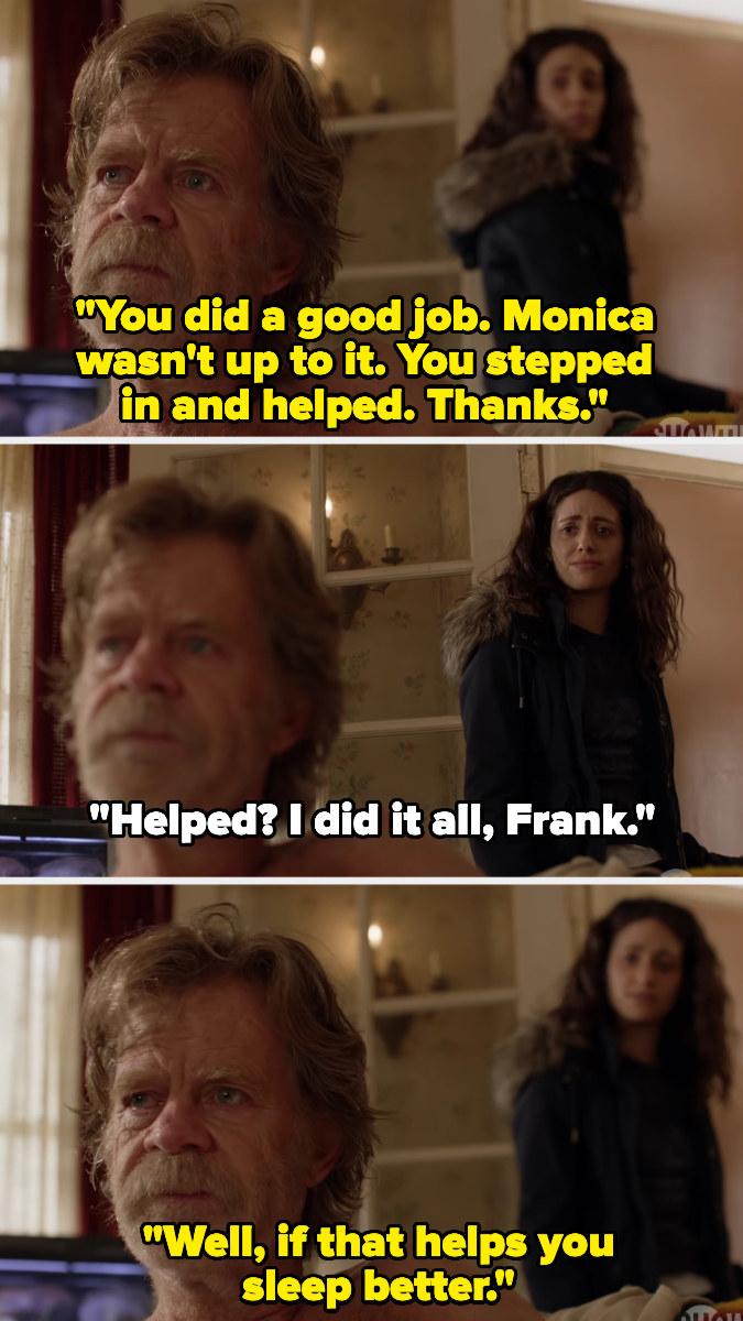 "Fiona and Frank saying goodbye on ""Shameless"""