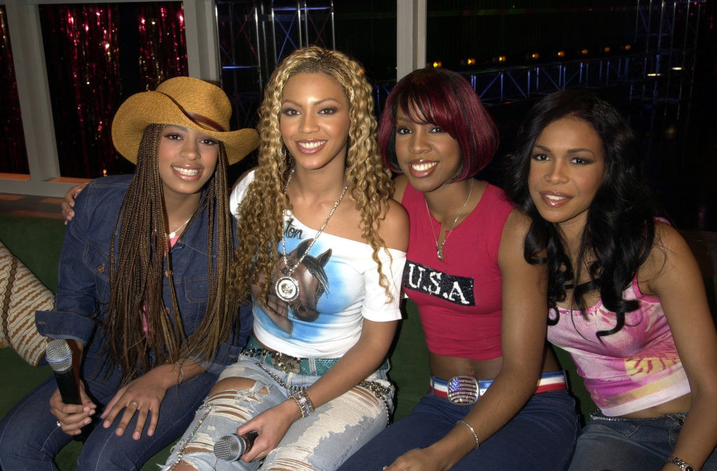 Solange with the members of Destiny's Child