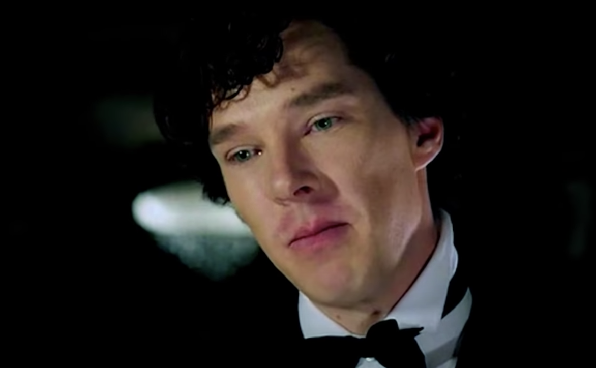 Sherlock as a waiter