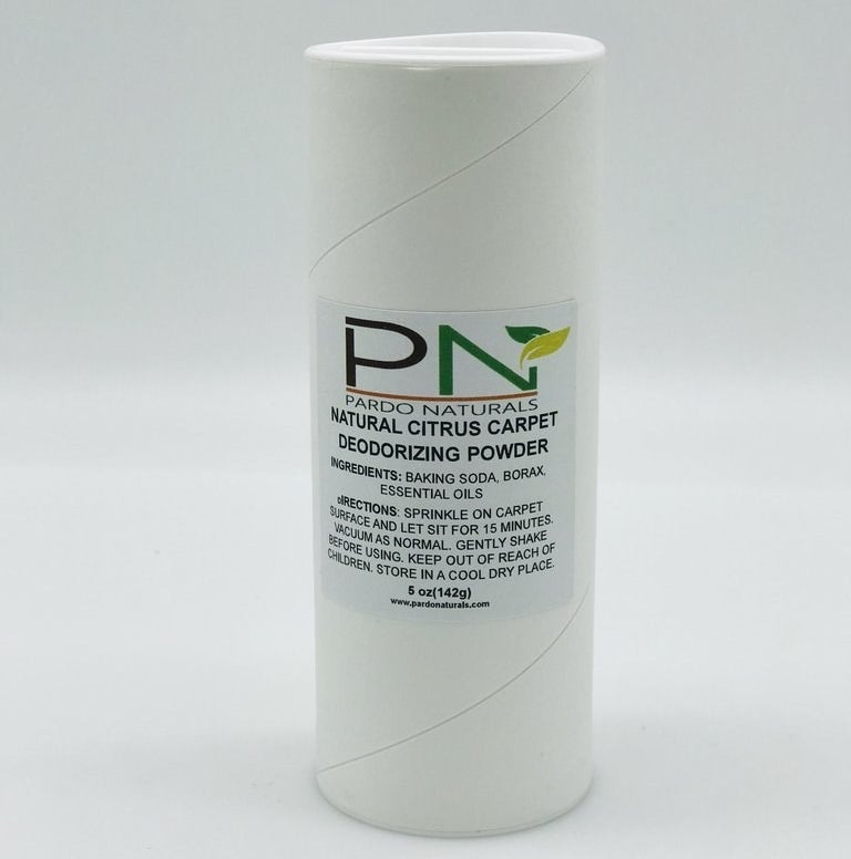 a cardboard tube filled with the powder