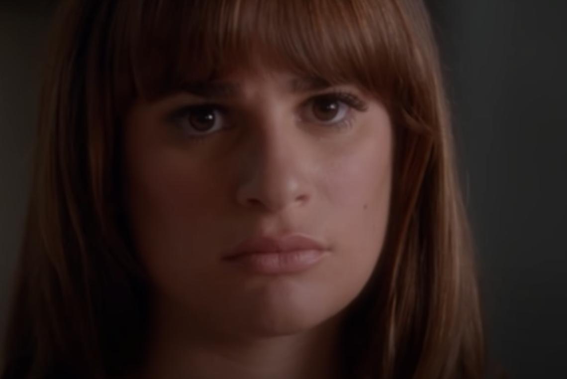 Rachel looking angry
