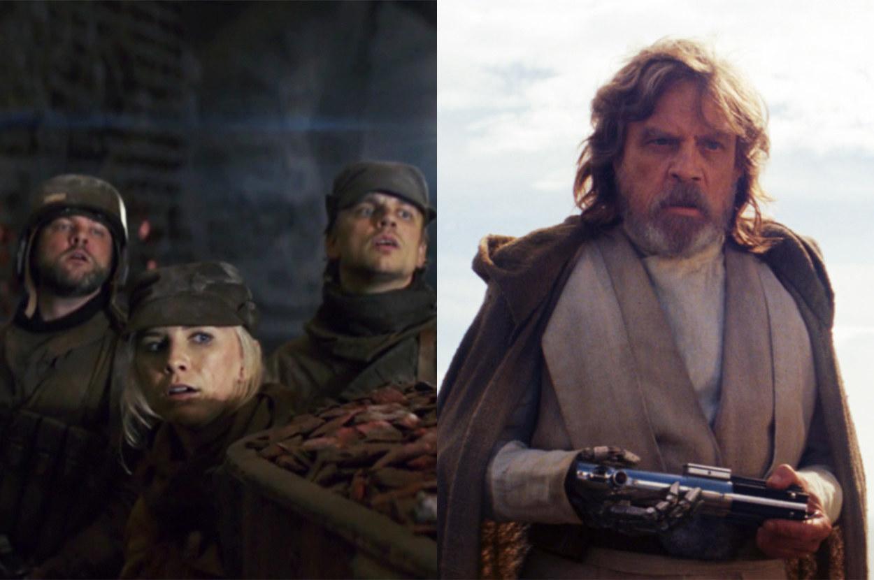 the resistance fighters watch Luke