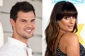 Taylor Lautner and Lea Michele