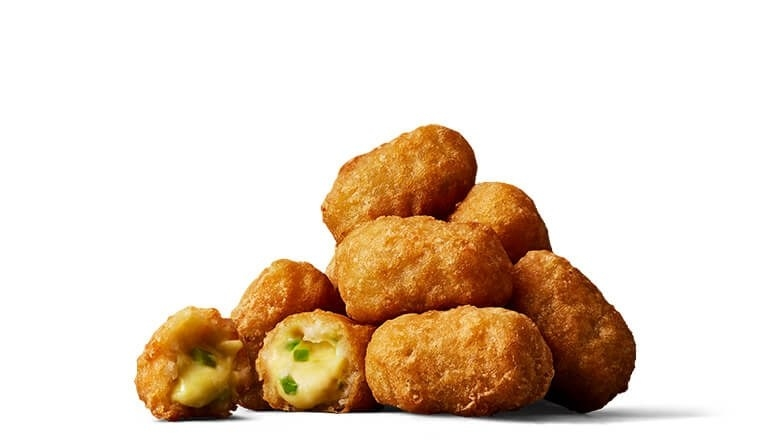 Fried cheese nuggets with jalapeño