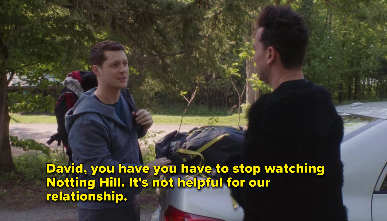 Patrick tells David to stop watching Notting Hill