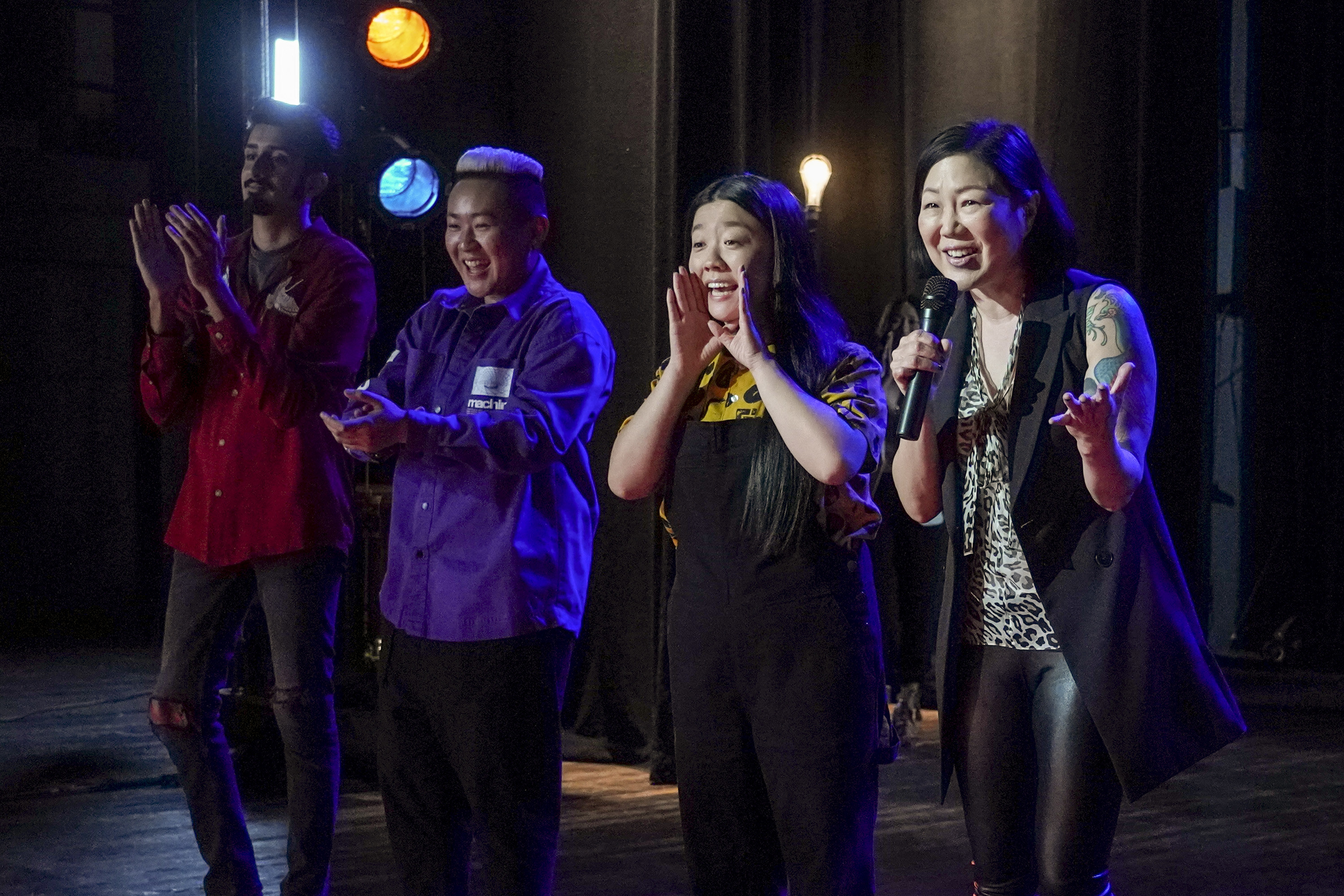 Alice and Margaret Cho on stage at their comedy show