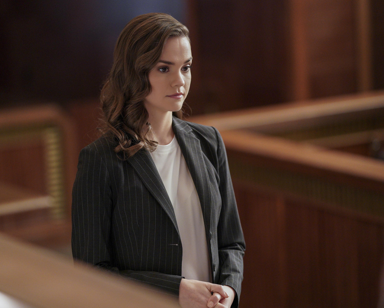 Callie talking in court