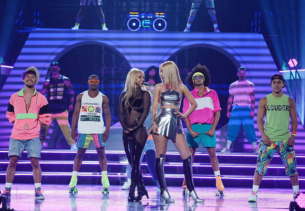 Britney and Iggy on stage after their performance