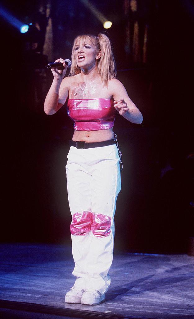 Spears performing in 1999