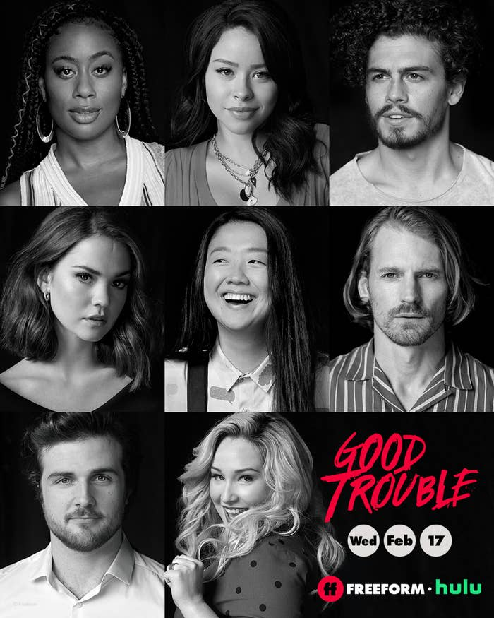 A poster of the cast of Good Trouble