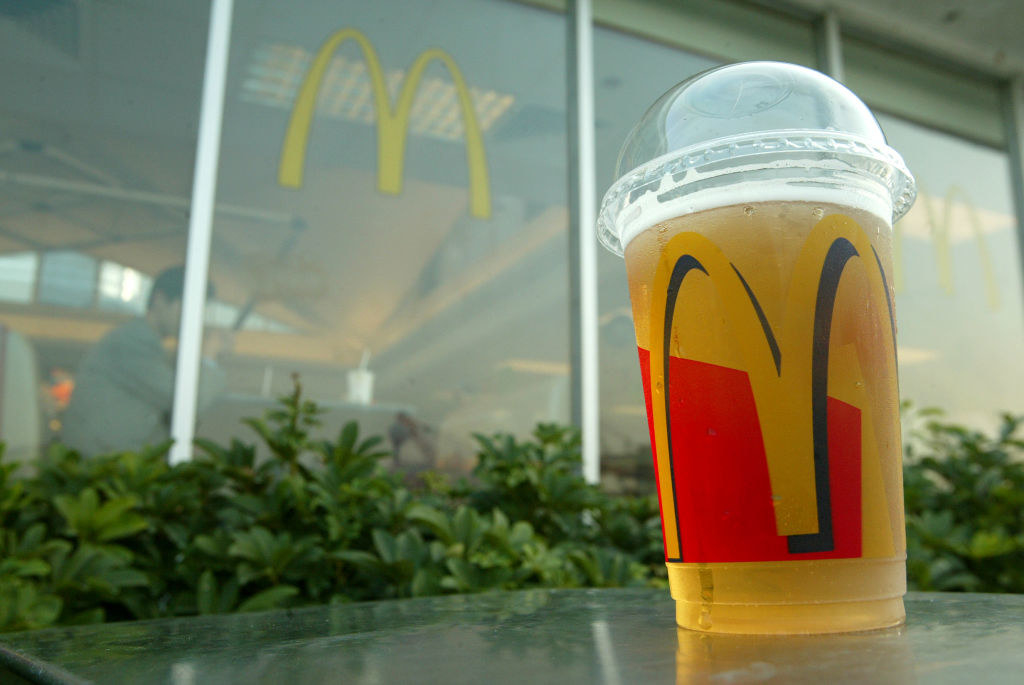A beer from McDonald's.