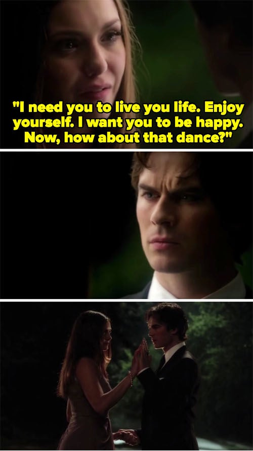 """Elena and Damon saying goodbye and having their last dance on """"The Vampire Diaries"""""""