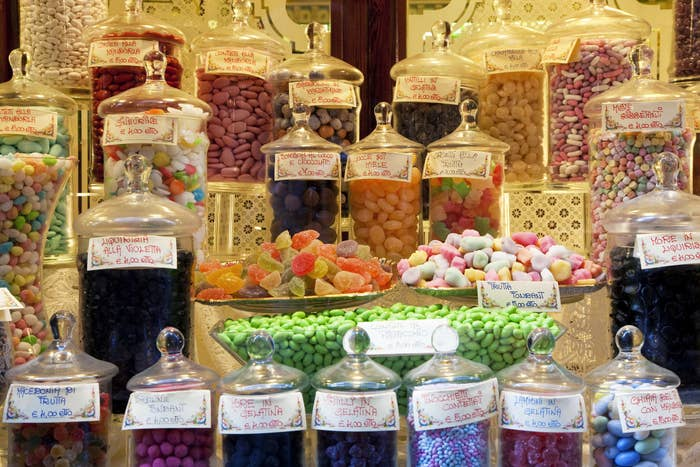 An Italian candy store.