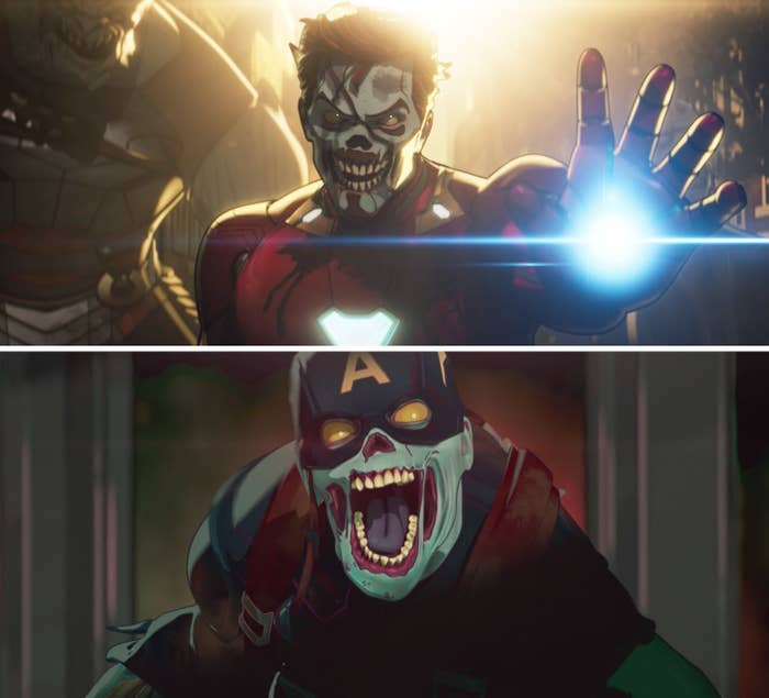 Zombie versions of Iron Man and Captain America