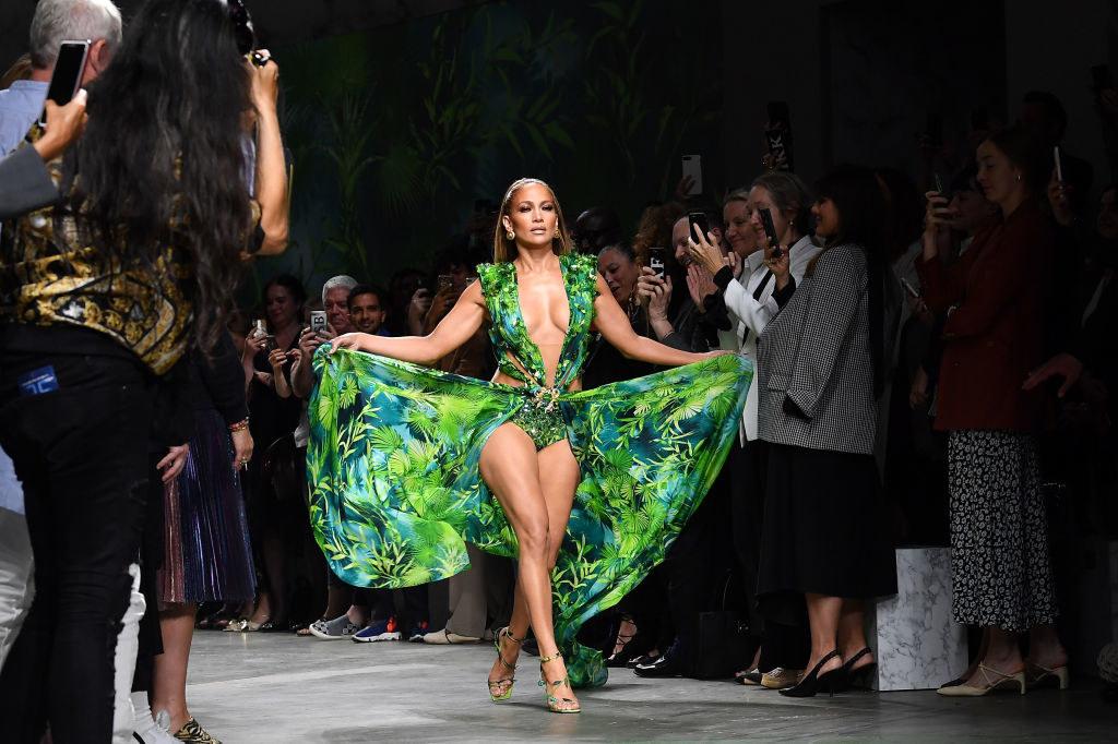Jennifer Lopez models the dress in 2019