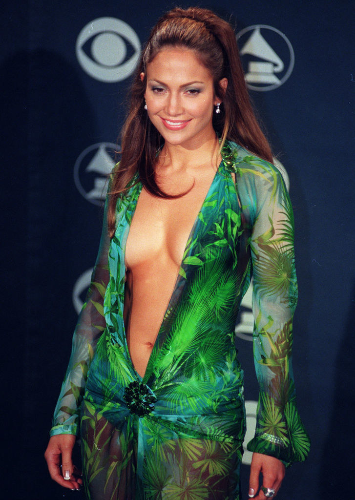 Jennifer Lopez on the red carpet in the dress