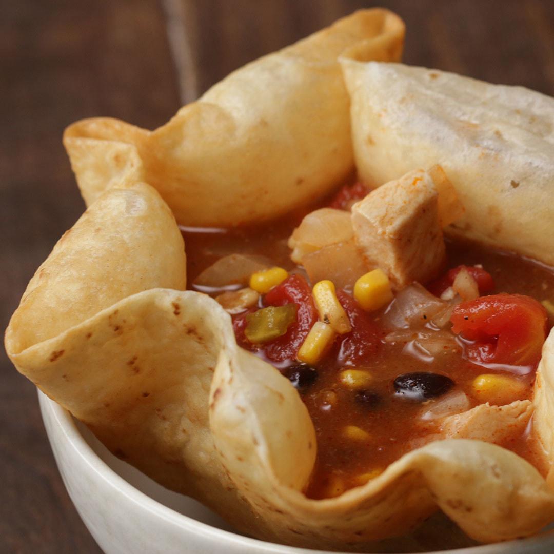 Chicken Tortilla Bowl Soup