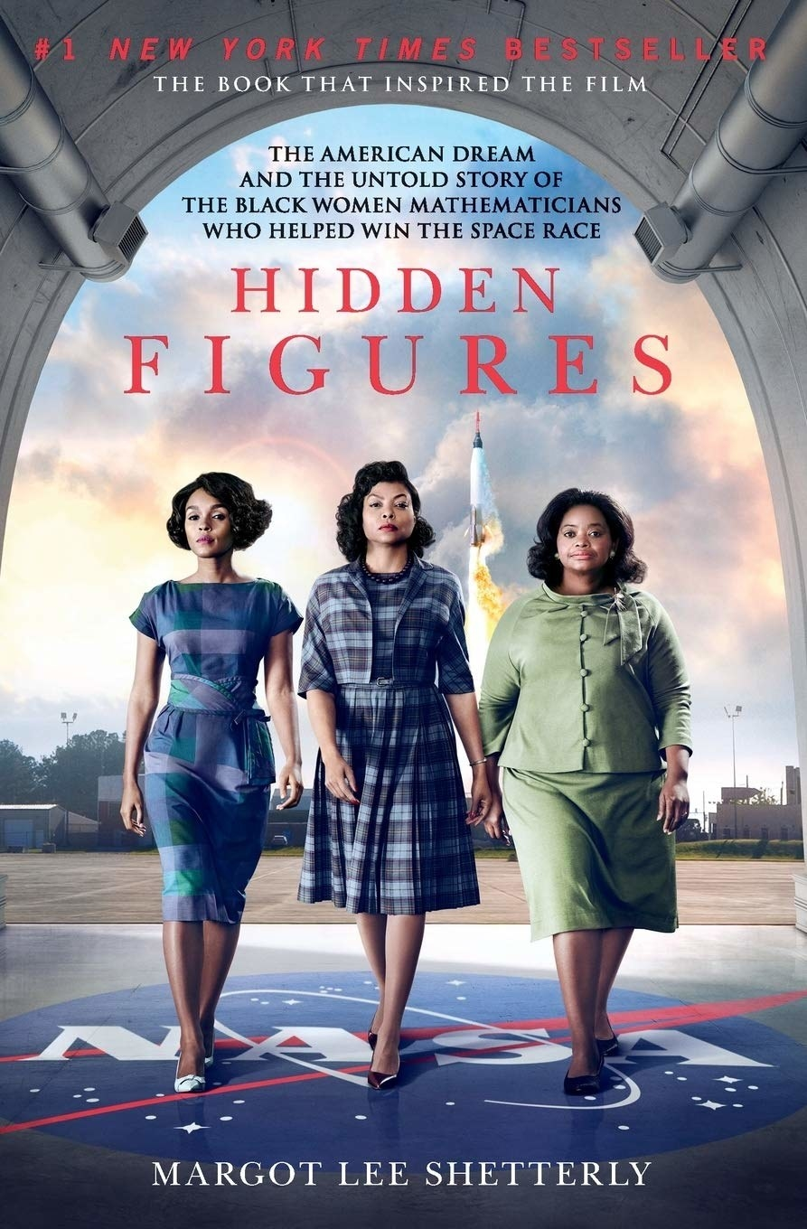 The cover of Hidden Figures by Margot Lee Shetterly