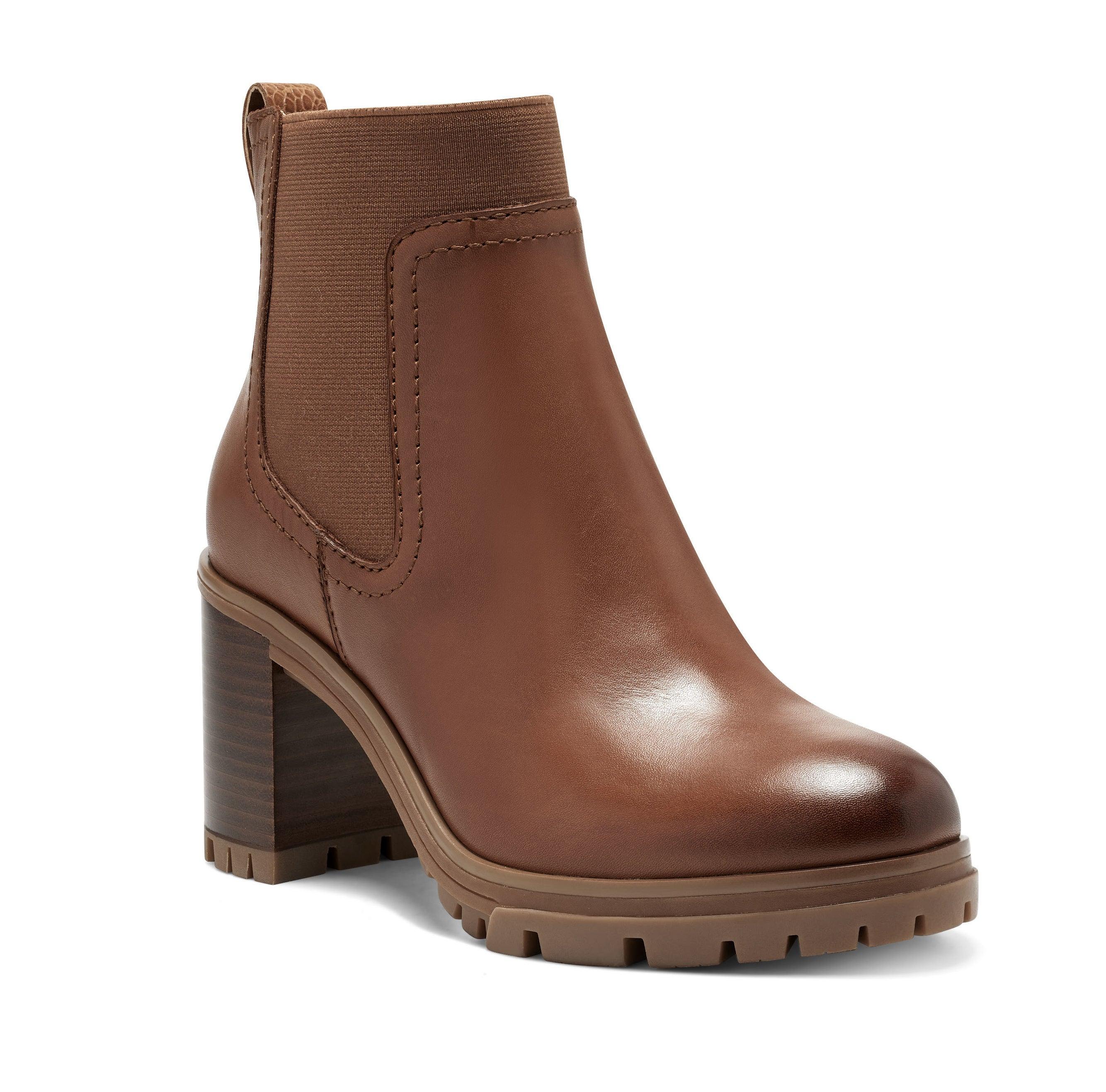 the brown platform boots
