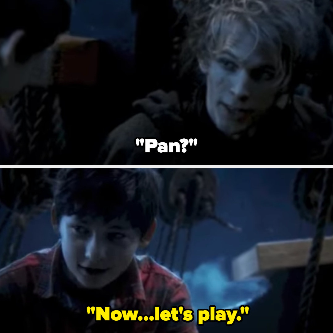 """one of Pan's men realizes it's him and Pan (as Henry) says """"now...let's play"""""""