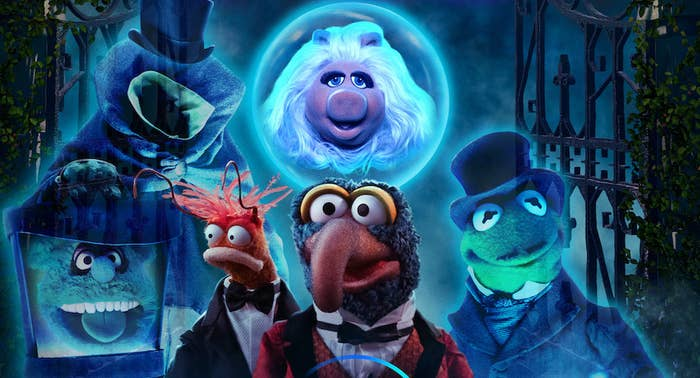 The Muppets characters as ghosts from the Haunted Mansion