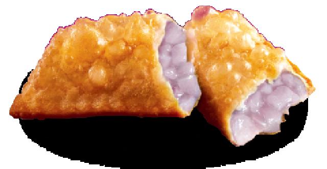 pie turnover with jammy purple taro