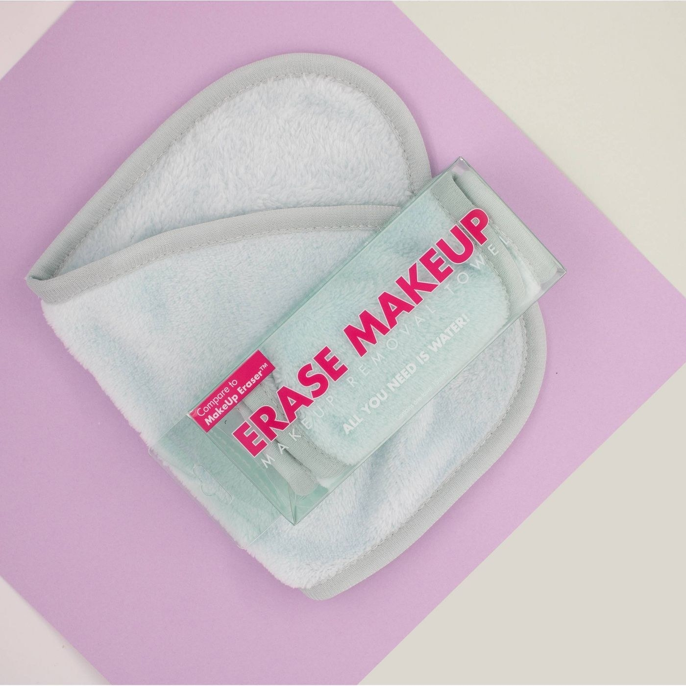 mint green makeup cleansing cloth