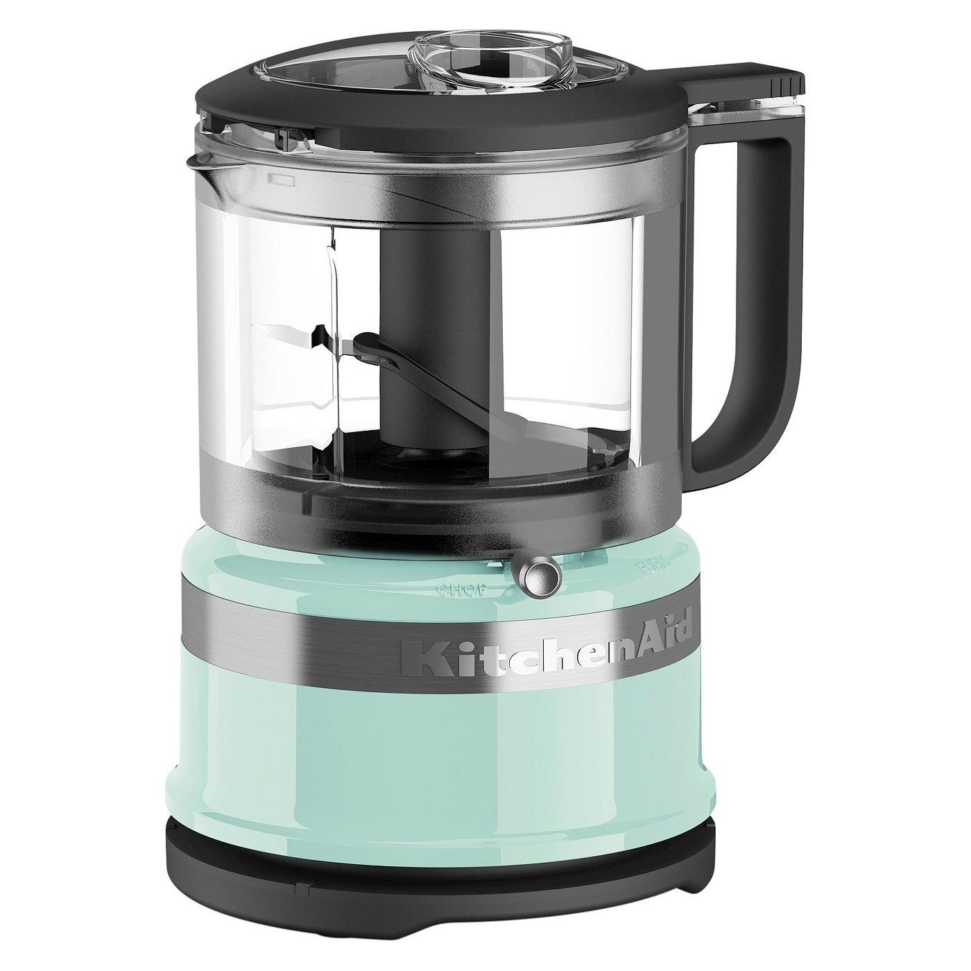 mint green kitchenaid food chopper