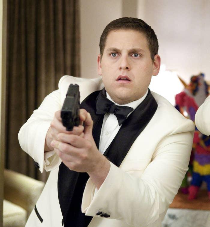 "Jonah as cop Schmidt  in ""21 Jump Street"""